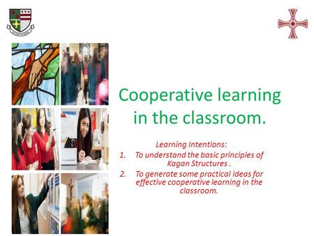 Cooperative learning in the classroom.