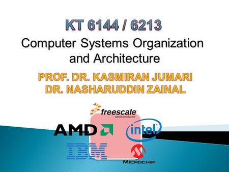 Computer Systems Organization and Architecture.  This course covers the following topics: Introduction to computer evolution, technology trends, system.