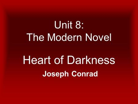 the symbolic use of ivory in heart of darkness by joseph conrad Joseph conrad's heart of darkness conrad's use of polyvalent symbols like the knitters of black wool, the grove of death, or kurtz himself.
