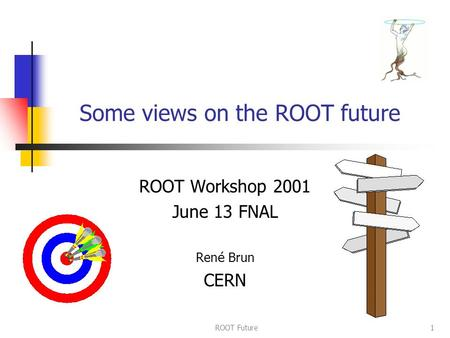 ROOT Future1 Some views on the ROOT future ROOT Workshop 2001 June 13 FNAL Ren é Brun CERN.