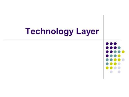 Technology Layer. Technology Layer Metamodel Technology Layer Concepts.