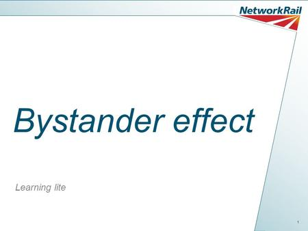 1 Bystander effect Learning lite. 2 Why would we think about the Bystander Effect? Understanding the Bystander effect, what it is and why it happens enables.