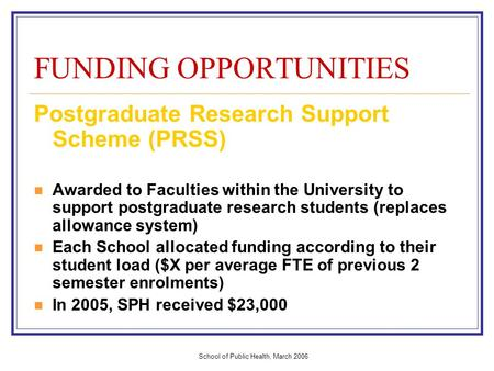 Dissertation Funding Health