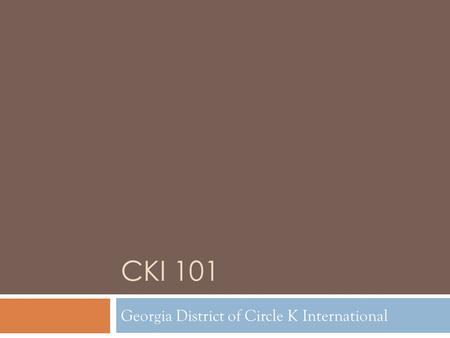 Georgia District of Circle K International
