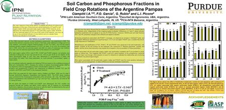 Soil Carbon and Phosphorous Fractions in Ciampitti I.A. 123, F.O. García 1, G. Rubio 2 and L.I. Picone 4 Field Crop Rotations of the Argentine Pampas Ciampitti.