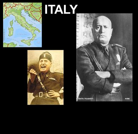 ITALY. POST WORLD WAR I ISSUES - ITALY - FELT CHEATED BY THE TREATY OF VERSAILLES - FEAR THE SPREAD OF COMMUNISM - FACE ECONOMIC DEPRESSION - RISE OF.
