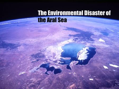 The Environmental Disaster of the Aral Sea. Create a cause-and-effect diagram, which lists a series of effects that resulted from diverting (redirecting)