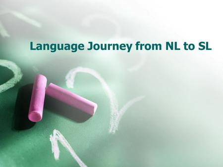 Language Journey from NL to SL. Contrastive Analysis Hypothesis Prator (1967) Level 0Transfer  English and Spanish vowels; word order  NL item is the.
