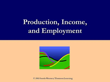 Production, Income, and Employment © 2003 South-Western/Thomson Learning.