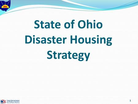 State of Ohio Disaster Housing Strategy