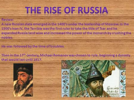 The Rise of Russia Review:
