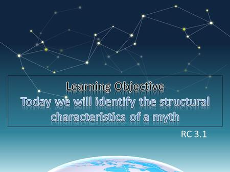 RC 3.1. Structural means the way text is put together. Characteristics means the qualities that make up the text.