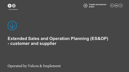 Extended Sales and Operation Planning (ES&OP) - customer and supplier