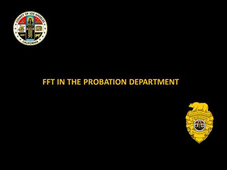 FFT IN THE PROBATION DEPARTMENT. BEFORE FFT 2 2008 TWO TEAMS FORMED FFT INC. MONITORS FIDELITY 3.