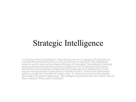 List of intelligence gathering disciplines