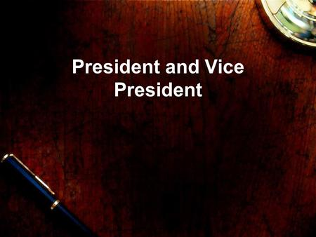 "President and Vice President. ""The president of the United States carries with it a responsibility so personal as to be without parallel…No one can make."