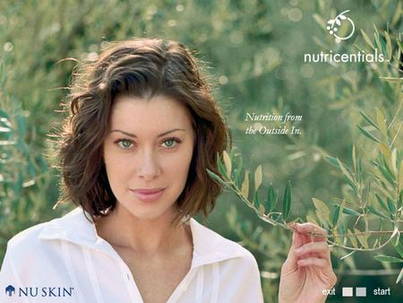 Startexit Nutrition from the Outside In.. Nutrition from the Outside In what makes skin beautiful?daily skin care with nutricentials ™ introducing nutricentials.