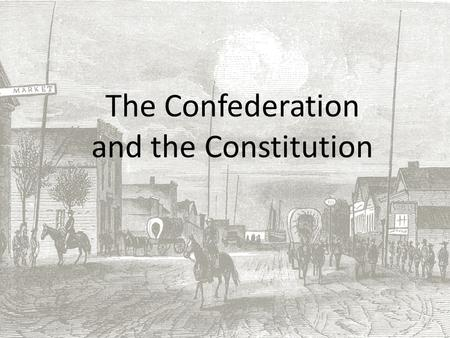 "The Confederation and the Constitution. Landmarks in Land Laws The Land Ordinance of 1785 answered the question, ""How will the new lands in the Ohio Valley."
