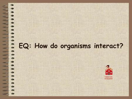 EQ: How do organisms interact? Classroom Unsquared.