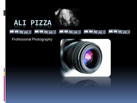 Professional Photography. Introduction: Ali Pizza.