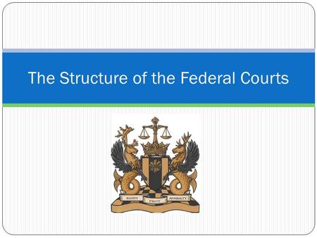 The Structure of the Federal Courts. Structure of the Federal Courts What does the Constitution say in Article III? Provides for Supreme Court Specifies.