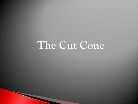 The Cut Cone. The given views show the Front Elevation and part Plan of a cut cone. Draw the following views :- Complete Plan End Elevation Development.