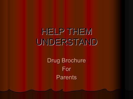 Drug Brochure Today Thursday meet in Health room and well – Drug Brochure