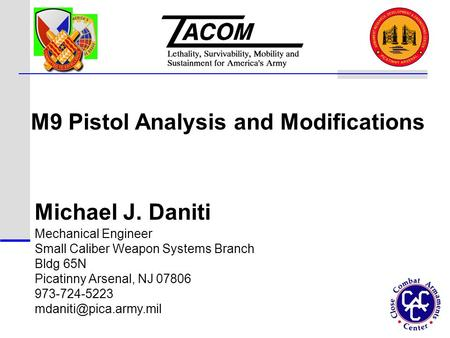 M9 Pistol Analysis and Modifications