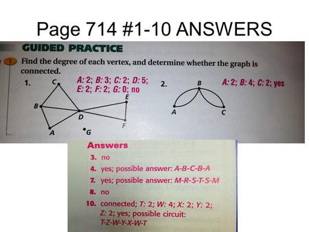 Page 714 #1-10 ANSWERS Lesson Reflection for Chapter 14 Section 7.