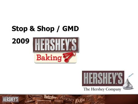 Stop & Shop / GMD 2009. 2 Fall Baking Key Messages Fall Baking is a $6M category at Stop & Shop / GMD, with solid growth of 5% in 2008 and expected momentum.