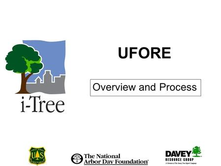 UFORE Overview and Process. Overview & Process I What is UFORE? Science-based computer model that quantifies urban forest structure, functions, and values.