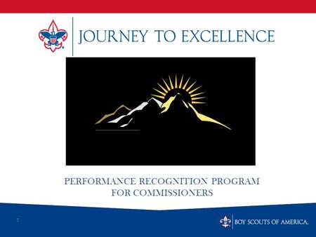 1 PERFORMANCE RECOGNITION PROGRAM FOR COMMISSIONERS.