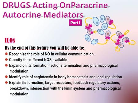 DRUGS Acting OnParacrine Autocrine Mediators