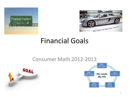 Financial Goals Consumer Math 2012-2013 1. Overview What Does A Financial Goal Look Like Examples Of Financial Goals How To Meet Financial Goals Evaluating.