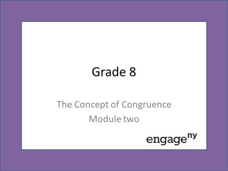 The Concept of Congruence Module two