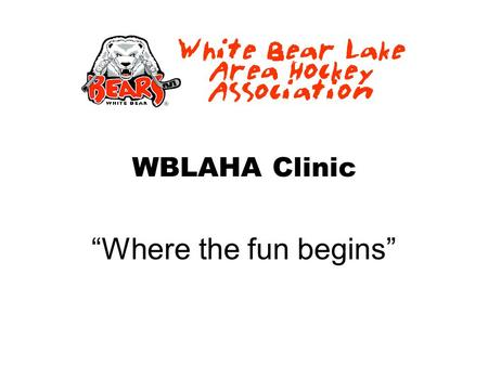 "WBLAHA Clinic ""Where the fun begins"". Goal of the program."