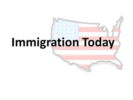 Immigration Today. Immigration in Arizona Arizona New Law Toughest stand on immigration in the country – Identify, prosecute, deport – Criminalize failure.