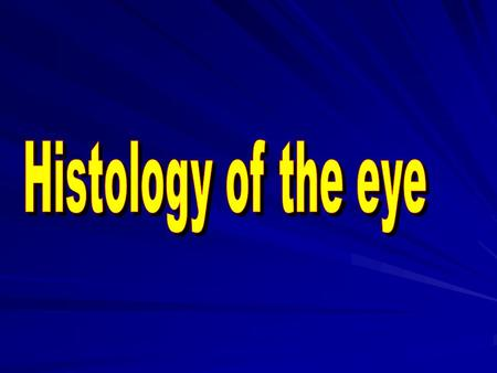 The eye is the photosensory organ of the body. It is composed of three tunics (coats): 1.Fibrous coat (sclera and cornea) forming the tough outer coat.