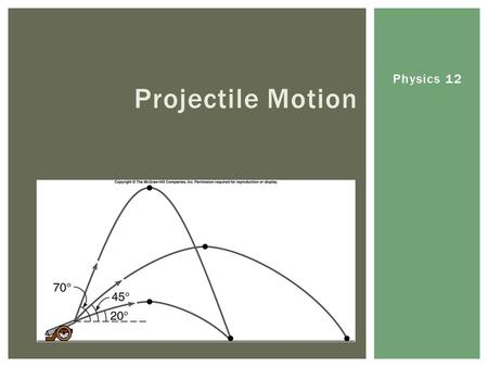 Physics 12 Projectile Motion.