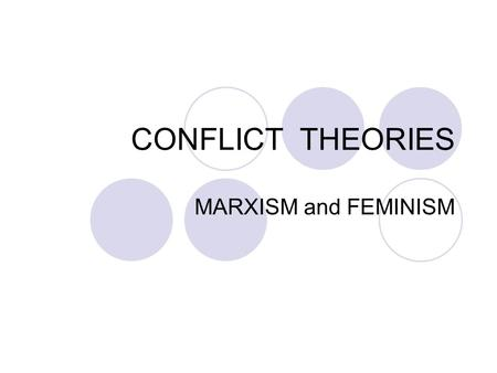 CONFLICT THEORIES MARXISM and FEMINISM. Karl Marx 1818 - 1883 Contradiction and Conflict – the basic characteristics of all known human societies Society.
