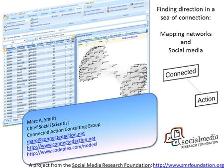 A project from the Social Media Research Foundation:  Finding direction in a sea of connection: