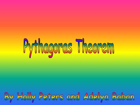 Facts about Pythagoras He lived in southern Italy during the 6 th century B.C He was considered the 1 st true mathematician He was 1 st to teach that.