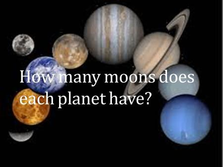 How many moons does each planet have?. Saturn has 60 moons  l=en&site=imghp&tbm=isch&source=hp&biw= 1366&bih=665&q=planets+in+the+solar+syste.