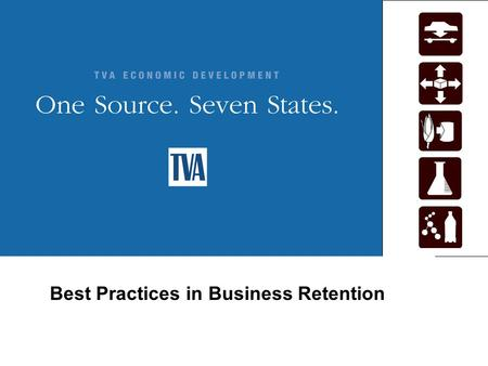 Best Practices in Business Retention. Economic Development Best Practices in Business Retention TVA Perspective Business Case for Retention Award Winning.