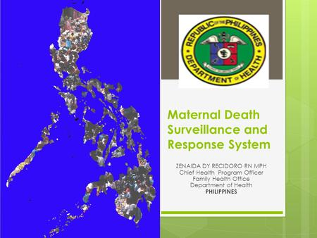 Maternal Death Surveillance and Response System