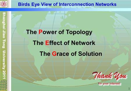 Birds Eye View of Interconnection Networks