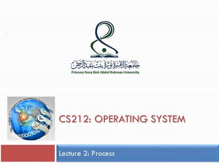 CS212: OPERATING SYSTEM Lecture 2: Process 1. Silberschatz, Galvin and Gagne ©2009 Operating System Concepts – 8 th Edition, Chapter 3: Process-Concept.