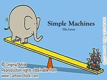 Simple Machines The Lever