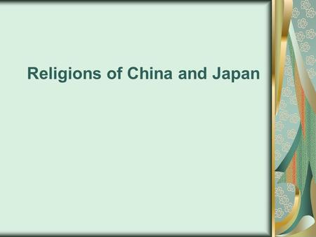 Religions of China and Japan. Confucianism A fundamental doctrine of Confucian ethics is that the nature of man is good. It is through faulty education.