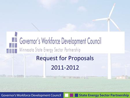 Request for Proposals 2011-2012. Webinar Presenters Carol Dombek, MSESP Program Manager Teresa Kittridge, MSESP Project Manager, Executive Director –